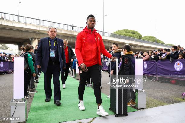 Keita Balde of Monaco during the Ligue 1 match between Toulouse and AS Monaco at Stadium Municipal on February 24 2018 in Toulouse