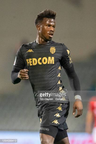 February 01: Keita Balde of Monaco in action during the Nimes V Monaco, French Ligue 1, regular season match at Stade des Costieres on February 1st...