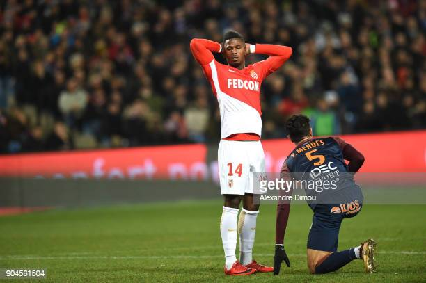 Keita Balde of Monaco looks dejected during the Ligue 1 match between Montpellier and Monaco at Stade de la Mosson on January 13 2018 in Montpellier...