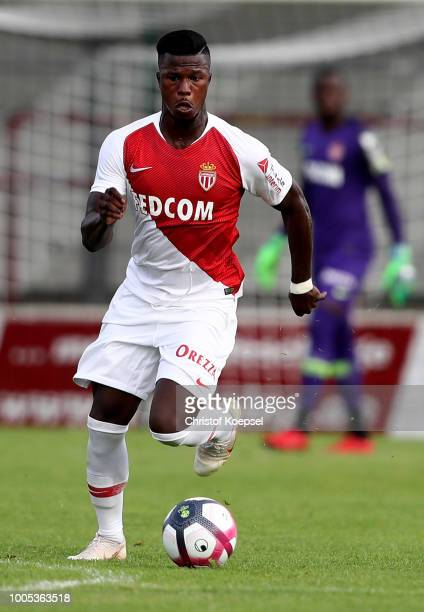 Keita Balde of Monaco runs with the ball during the Pre-Season Friendly match between VfL Bochum and AS Monaco at Sportclub Arena on July 25, 2018 in...