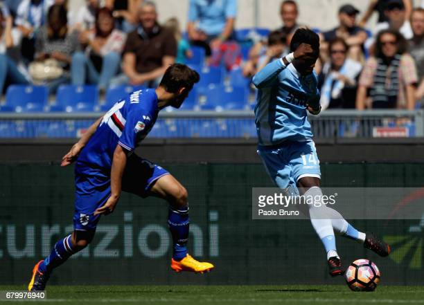 Keita Balde of SS Lazio in action during the Serie A match between SS Lazio and UC Sampdoria at Stadio Olimpico on May 7 2017 in Rome Italy