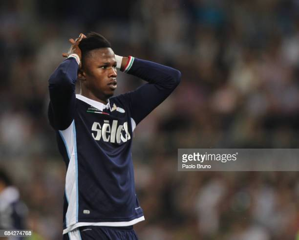 Keita Balde of SS Lazio reacts during the TIM Cup Final match between SS Lazio and Juventus FC at Olimpico Stadium on May 17 2017 in Rome Italy
