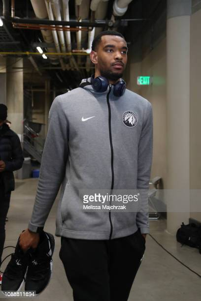 Keita BatesDiop of the Minnesota Timberwolves arrives before the game against the Utah Jazz on January 25 2019 at Vivint Smart Home Arena in Salt...