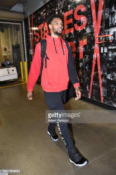 Keita BatesDiop of the Minnesota Timberwolves arrives to the arena prior to the game against the LA Clippers on November 5 2018 at STAPLES Center in...