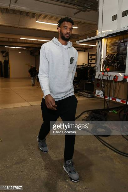 Keita BatesDiop of the Minnesota Timberwolves arrives to the game against the Phoenix Suns on November 23 2019 at Target Center in Minneapolis...