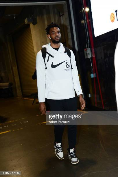 Keita BatesDiop of the Minnesota Timberwolves arrives to the game against the Los Angeles Lakers on December 8 2019 at STAPLES Center in Los Angeles...