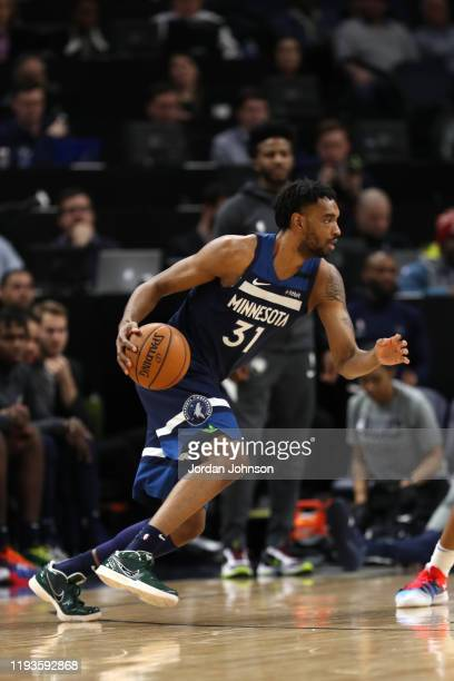 Keita BatesDiop of the Minnesota Timberwolves handles the ball against the Oklahoma City Thunder on January 13 2020 at Target Center in Minneapolis...