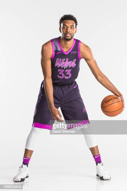 Keita BatesDiop of the Minnesota Timberwolves poses for a portrait in the new city edition uniforms on October 14 2018 at Target Center in...