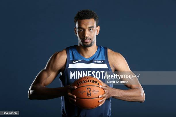 Keita BatesDiop of the Minnesota Timberwolves poses for a portrait on June 26 2018 at the Minnesota Timberwolves Lynx Courts at Mayo Clinic Square in...