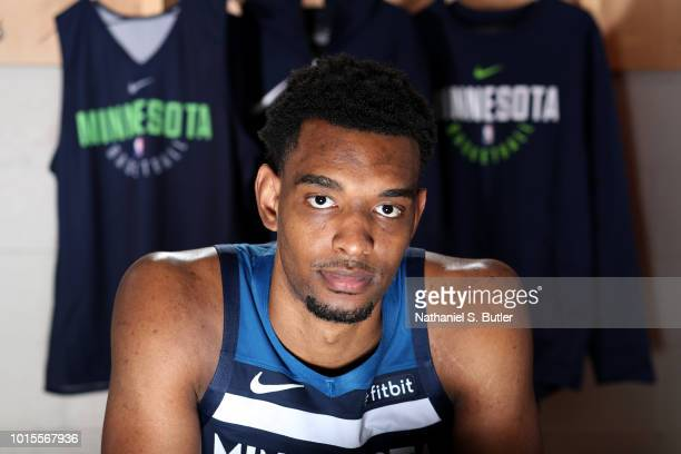Keita BatesDiop of the Minnesota Timberwolves poses for a portrait during the 2018 NBA Rookie Shoot on August 12 2018 at the Madison Square Garden...