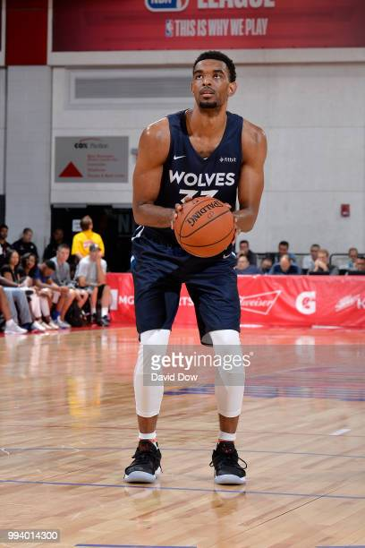 Keita BatesDiop of the Minnesota Timberwolves shoots a free throw during the game against the Toronto Raptors on July 8 2018 at the Cox Pavilion in...