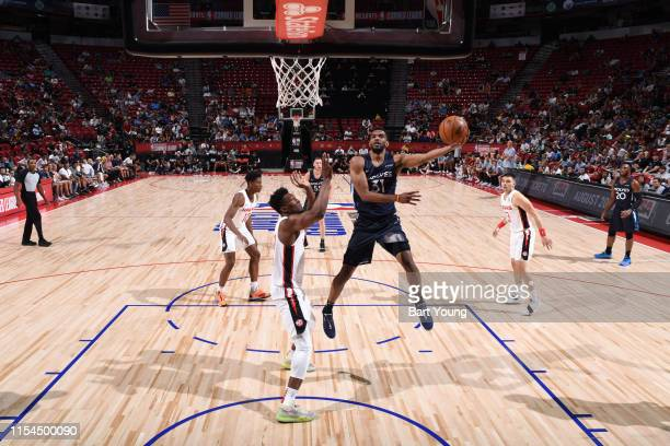 Keita BatesDiop of the Minnesota Timberwolves shoots the ball against the Atlanta Hawks during Day 3 of the 2019 Las Vegas Summer League on July 7...
