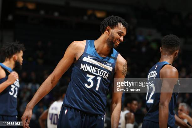 Keita BatesDiop of the Minnesota Timberwolves smiles during a game against the Sacramento Kings on January 27 2020 at Target Center in Minneapolis...