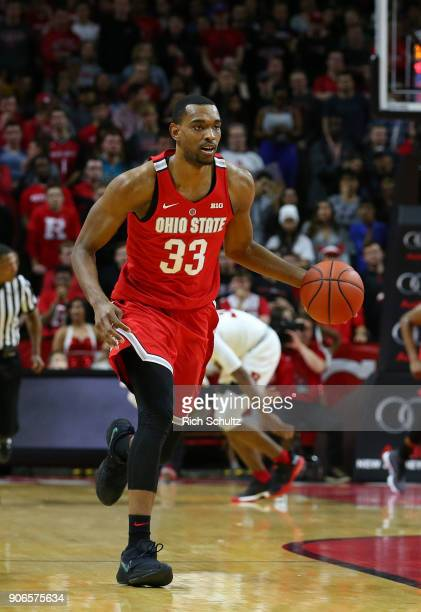 Keita BatesDiop of the Ohio State Buckeyes during a game against the Rutgers Scarlet Knights at Rutgers Athletic Center on January 14 2018 in...