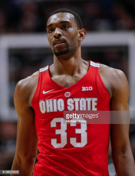 Keita BatesDiop of the Ohio State Buckeyes is seen during the game against the Purdue Boilermakers at Mackey Arena on February 7 2018 in West...