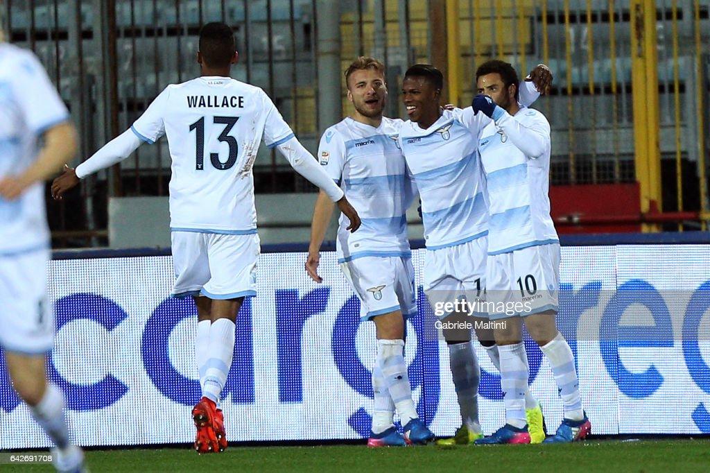 Keita Diao Balde of SS Lazio celebrates after scoring a ...