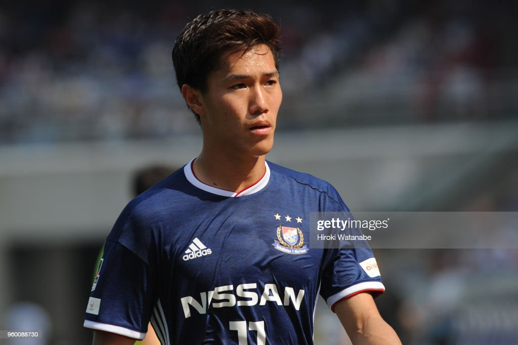 keita-endo-of-yokohama-fmarinos-looks-on