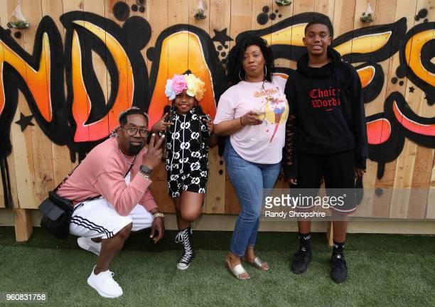 Keita Morris and family attends MANDAFEST Mandla Morris' 13th Birthday Celebration on May 20 2018 in Calabasas California