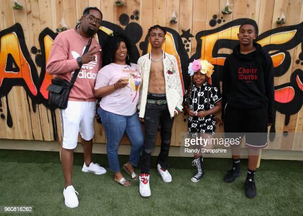 Keita Morris and family with Mandla Morris attend MANDAFEST Mandla Morris' 13th Birthday Celebration on May 20 2018 in Calabasas California