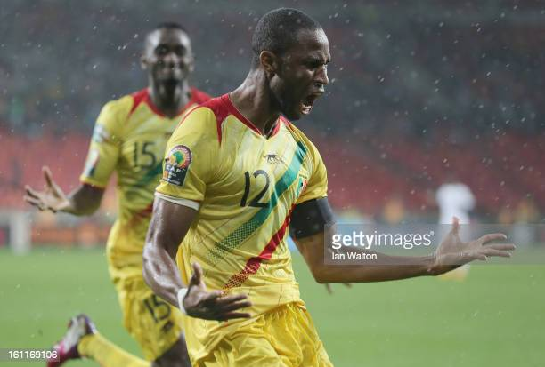 Keita Seydou of Mali celebrates scoring the 2nd goal during the 2013 Africa Cup of Nations Third Place PlayOff match between Mali and Ghana on...