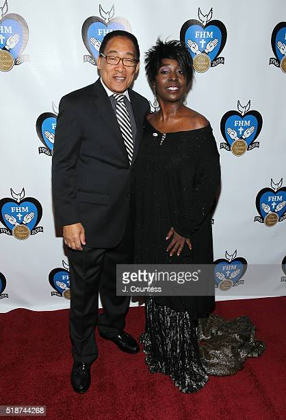G Keith Alexander and Phyllis Yvonne Stickney pose for a photo at the 2016 Franciscan Handmaids Of The Most Pure Heart of Mary Centennial Gala at The...
