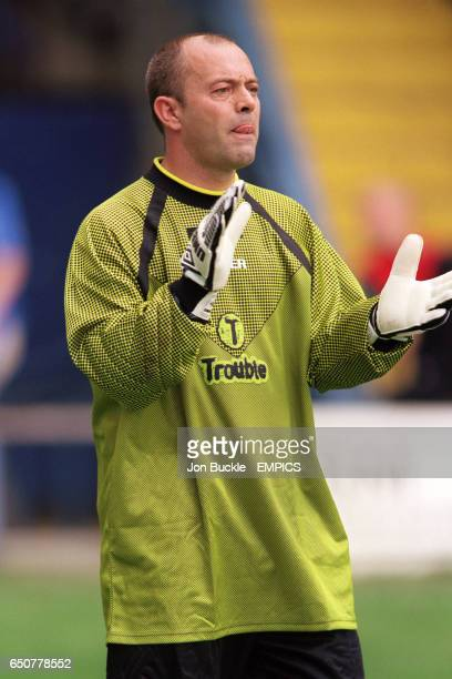 Keith Allen goalkeeper for the Fat Les team