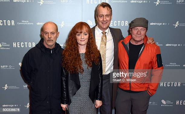Keith Allen Natalie Gavin Stephen Tompkinson and Peter Mullan attend the 'Hector' Gala Screening at Cineworld Haymarket on December 7 2015 in London...