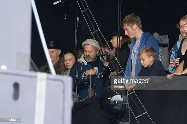 Keith Allen watching his daughter Lily Allen in concert performing live during the 2007 Glastonbury Festival.; Job: 30228 Ref: EWT - Non-Exclusive
