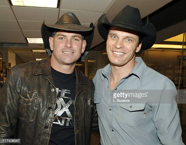 Keith Anderson and Lane Turner during The 39th Annual CMA Awards Luncheon at Sirius Satellite Radio at Sirius Satellite Radio Offices in New York...
