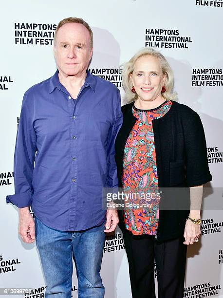 Keith Barish and Ann Barish attend the Awards Dinner at the Hamptons International Film Festival 2016 at Topping Rose on October 9 2016 in...