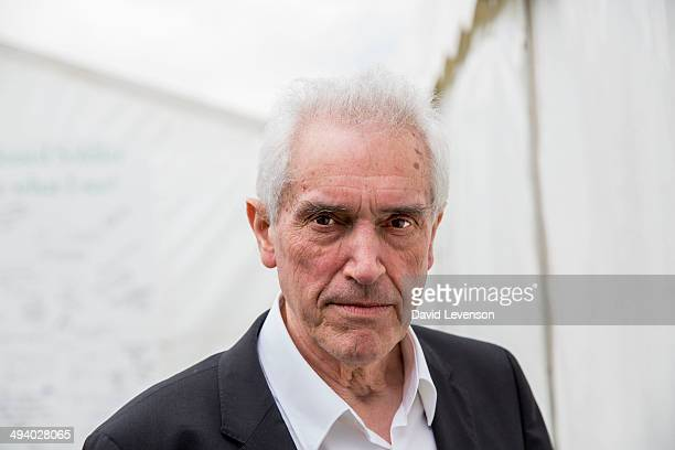 Keith Barnham Physicist and author of 'The Burning Answer' at the Hay Festival on May 27 2014 in HayonWye Wales