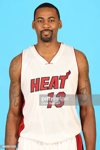 Keith Benson of the Miami Heat poses for a portrait during the 2015 Media Day on September 28 2015 at the American Airlines Arena in Miami Florida...