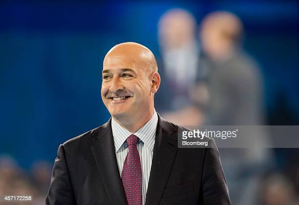 Keith Block, president and co-vice chairman of Salesforce.com Inc., smiles while speaking at the DreamForce Conference in San Francisco, California,...
