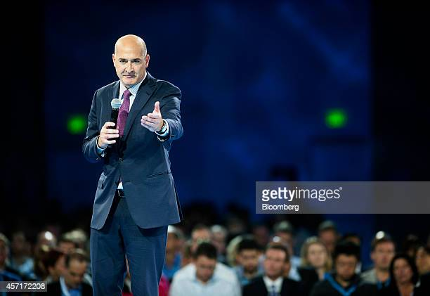 Keith Block, president and co-vice chairman of Salesforce.com Inc., speaks during the DreamForce Conference in San Francisco, California, U.S., on...