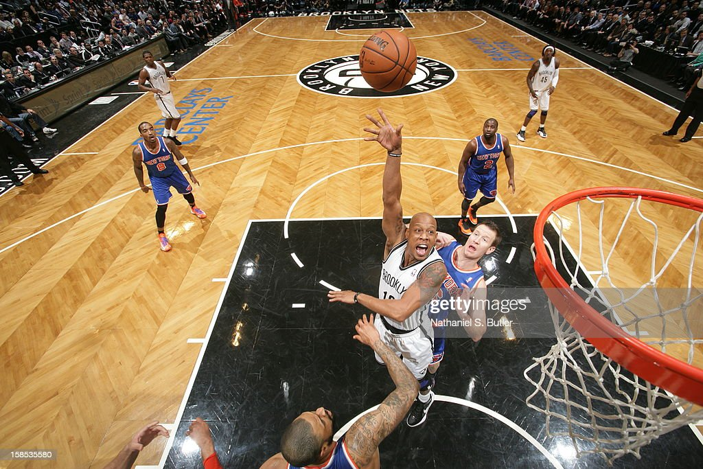 Keith Bogans #10 of the Brooklyn Nets puts up a shot against the New York Knicks on November 26, 2012 at the Barclays Center in the Brooklyn Borough of New York City.
