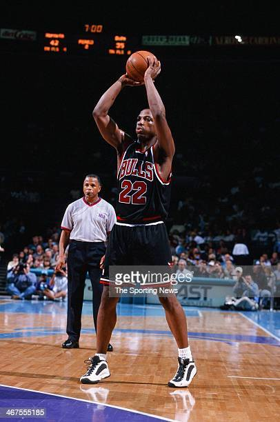 Keith Booth of the Chicago Bulls during the game against the Charlotte Hornets on April 30 1999 at Charlotte Coliseum in Charlotte North Carolina