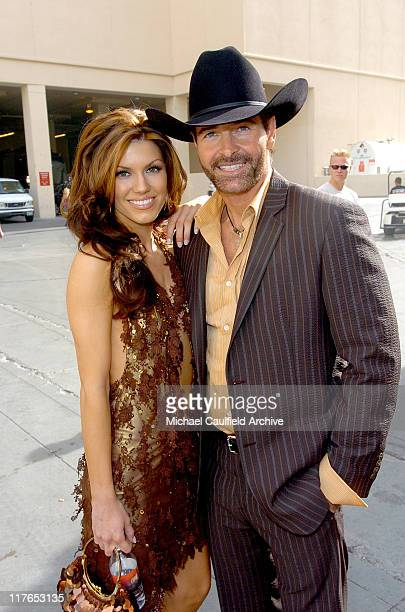Keith Burns of Trick Pony with Brandi Williams during 40th Annual Academy of Country Music Awards Orange Carpet at Mandalay Bay Resort and Casino...