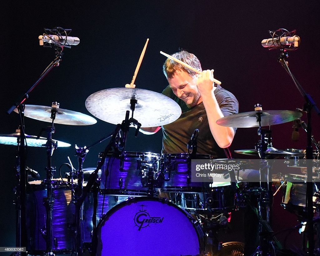 Keith Carlock of Steely Dan performs at Chastain Park Amphitheater on August 9, 2015 in Atlanta, Georgia.