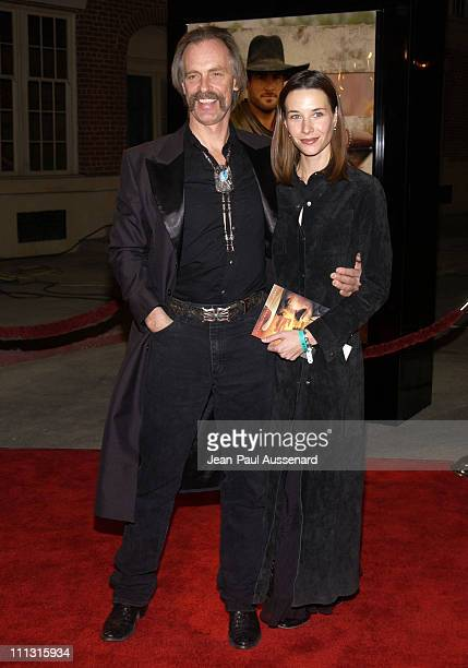 Keith Carradine and Hayley DuMond during TNT's Monte Walsh Premiere Los Angeles at Warner Bros Studios in Burbank California United States