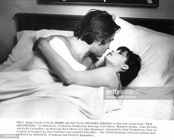 Keith Carradine sleeps with Talia Shire in a scene from the film 'Old Boyfriends' 1979