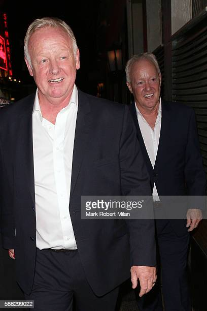 Keith Chegwin and Les Dennis at the Ivy Club on August 10 2016 in London England