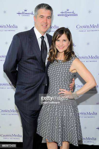 Keith Christian and Kellie Martin at Crown Media's Upfront Event at Rainbow Room on March 29, 2017 in New York City.