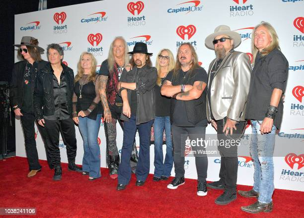 Keith Christopher Michael Cartellone guest Rickey Medlocke Gary Rossington guest Johnny Van Zant Peter Keys and Mark Matejka of Lynyrd Skynyrd attend...