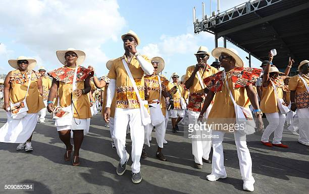 Keith Christopher Riley Prime Minister of Trinidad and Tobago and members of the band 'Ship Ahoy Africa' presented by Trinidad All Stars Steel...
