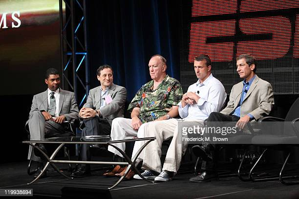 Keith Clinkscales SVP Content Development and Enterprises ESPN filmmaker Jonathan Hock former heavyweight boxer Chuck Wepner former NBA player Chris...