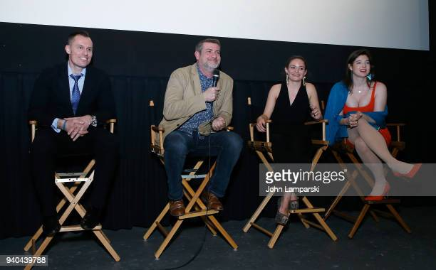Keith Collins Doug Bollinger Annelise Nielsen and Timothy Laurel Harrison attend 'The Samaritans' New York premiere at Anthology Film Archives on...