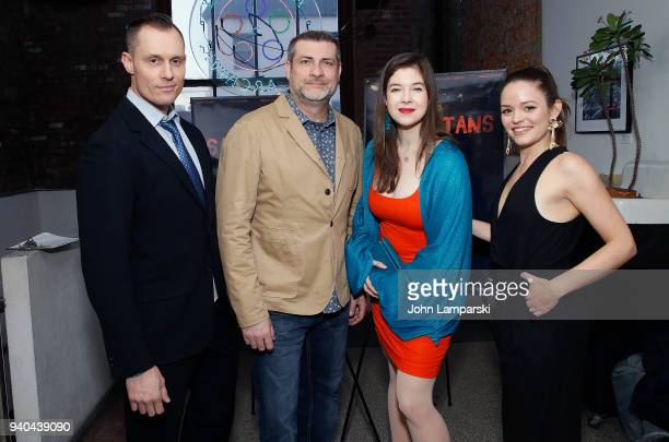 Keith Collins Doug Bollinger Timothy Laurel Harrison and Annelise Nielsen attend 'The Samaritans' New York premiere at Anthology Film Archives on...