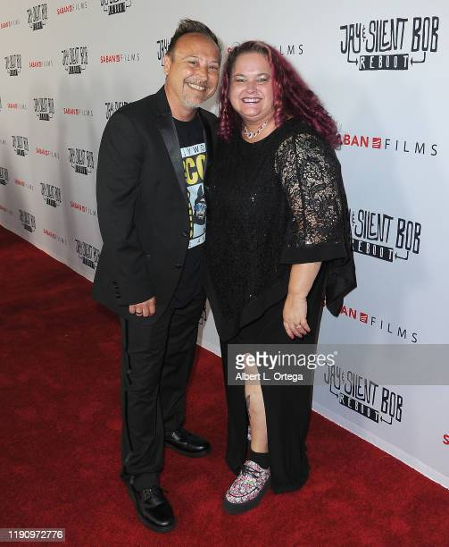 Keith Coogan and wife Kristen Shean arrive for Saban Films' Jay Silent Bob Reboot Los Angeles Premiere held at TCL Chinese Theatre on October 14 2019...
