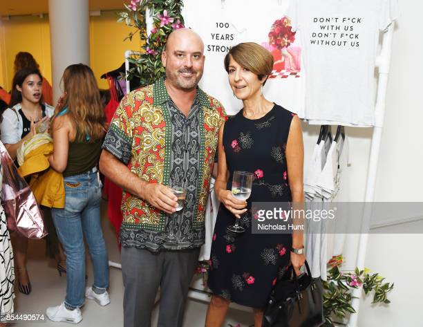 Keith Corso and Nancy Chilton attends the MILLY x Laurie Simmons launch party to support Planned Parenthood at Milly Soho on September 26 2017 in New...