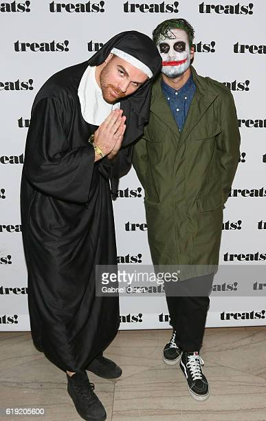 Keith Costello and Brett Page attend Trick or treats The 6th Annual treats Magazine Halloween Party Sponsored by Absolut Elyx on October 29 2016 in...